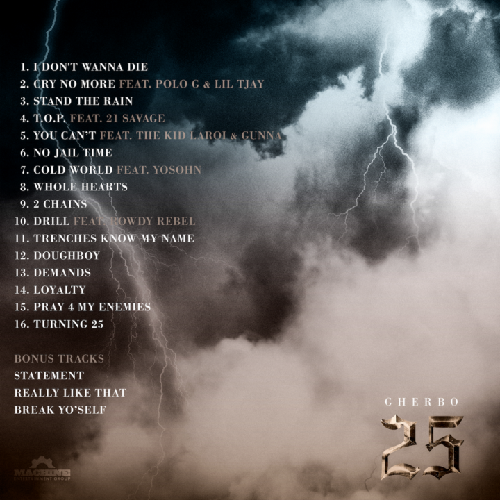 G HERBO 25 track list art from The Purple Agency for use by 360 magazine