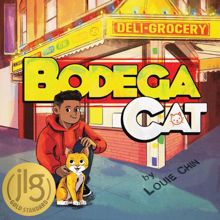 """""""Bodega Cat"""" by Louie Chin (ISBN: 978-1-57687-932-0, $17.99 US/$23.99 CAN)via POW! Kids Books for use by 360 Magazine"""