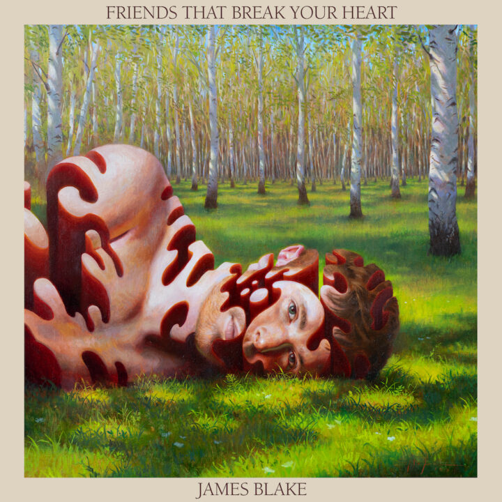 JAMES BLAKE FRIENDS THAT BREAK YOUR HEART album art by Miles Johnston from Republic Media Records for use by 360 Magazine