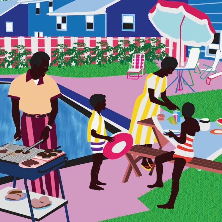 - Bluestrokes - artwork by Atanda Quadri Adebayo, Mamus Esiebo | Daniel Tetteh Nartey Moustapha Baidi Oumarou via GR gallery for use by 360 Magazine