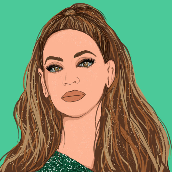 Beyonce illustration by Maria Soloman from 360 Magazine for use by 360 Magazine