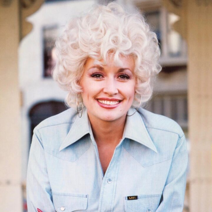Dolly Parton blue shirt image via Michael Krause at Time Life for use by 360 Magazine