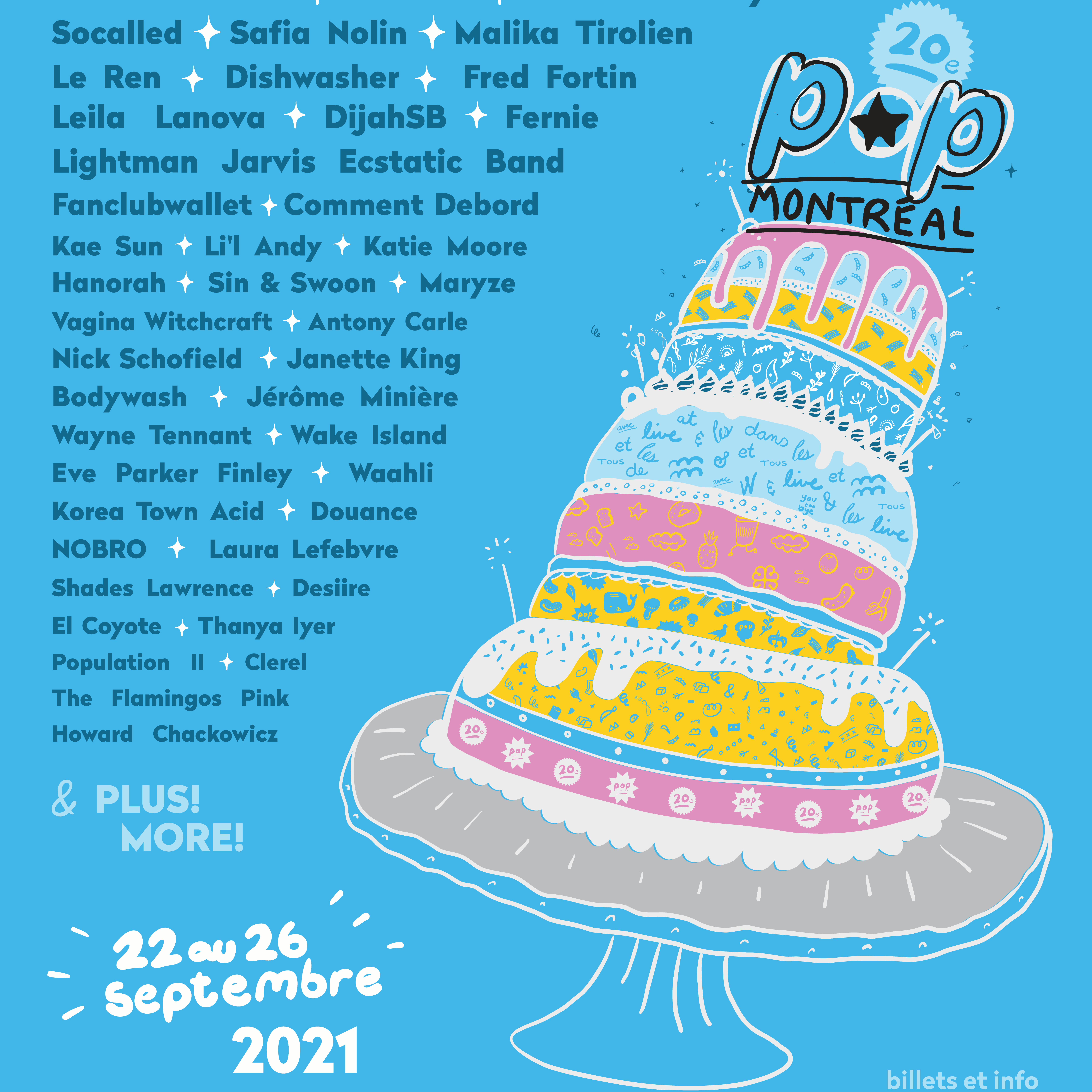 POP Montreal Poster via POP Montreal for use by 360 Magazine