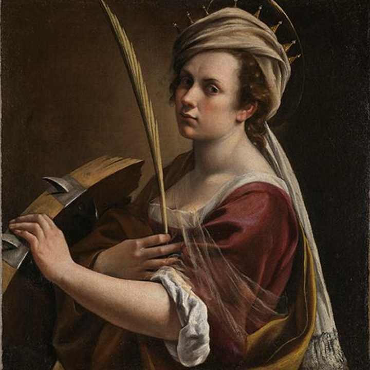 Artemisia Gentileschi, Self Portrait as Saint Catherine of Alexandria for use by 360 Magazine
