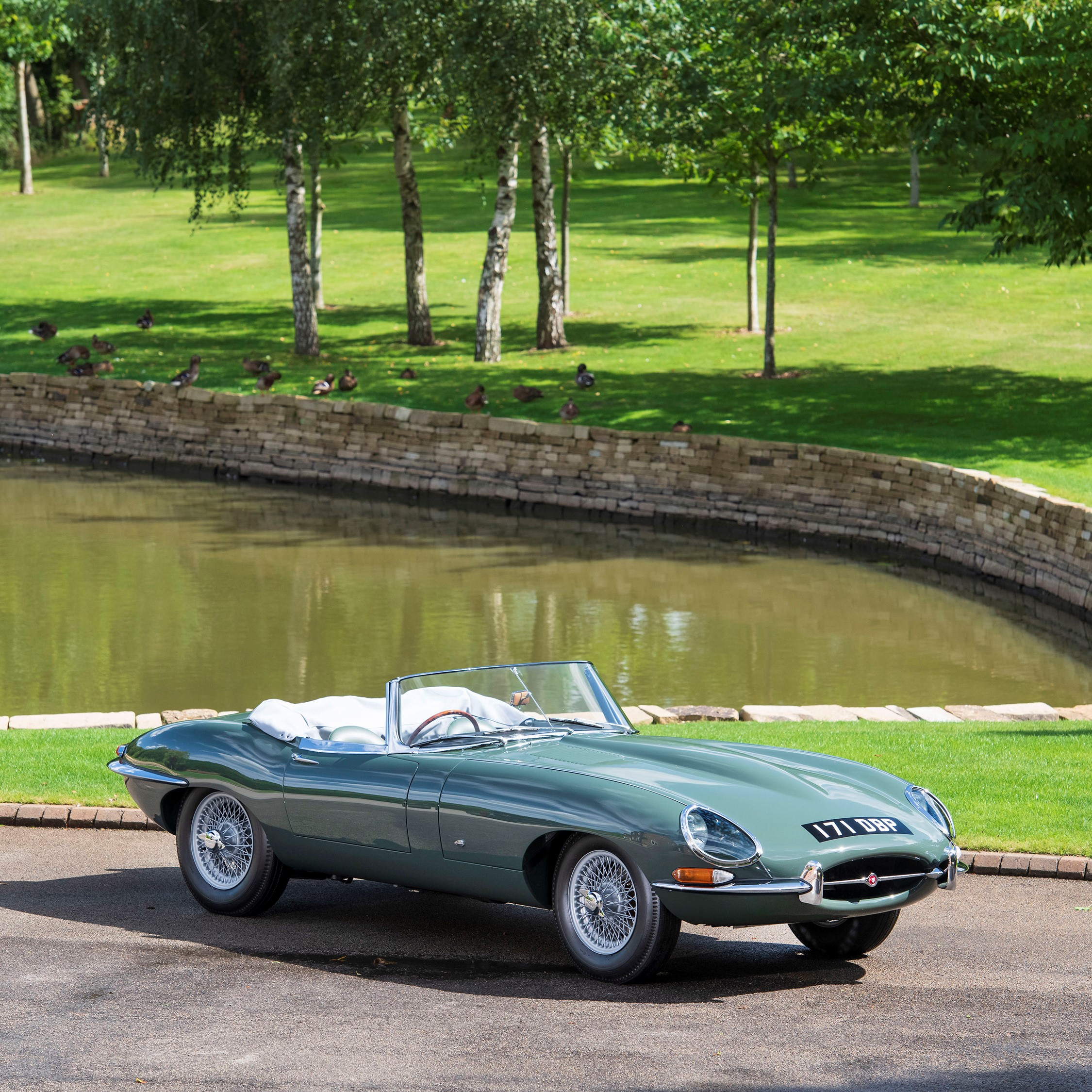 Jaguar E-Type via Concours of Elegance for use by 360 Magazine