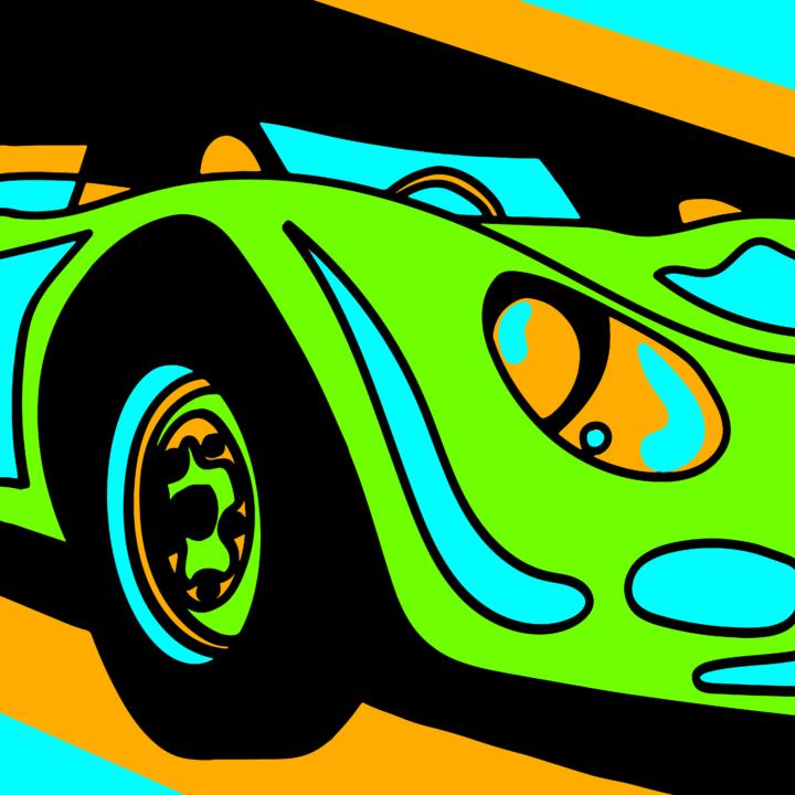 Green Car by Mina Tocalini