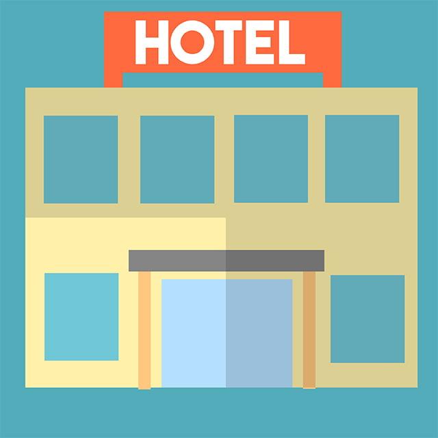 Hotel illustration from Alejandra Villagraat 360 Magazine for use by 360 Magazine