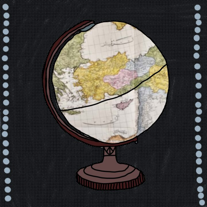 Globe Illustration done by Rumnik Ghuman from 360 Magazine for use by 360 Magazine