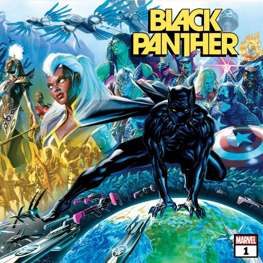 Black Panther via Alex Ross for Marvel Entertainment for use by 360 Magazine