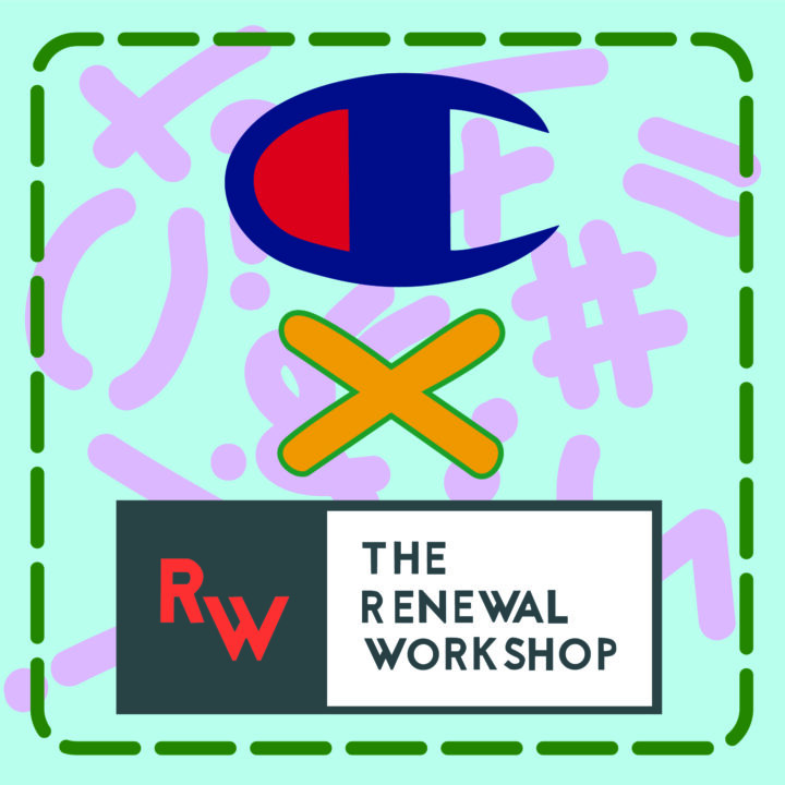 Champion × The Renewal Workshop illustration by Anh Hoang use for 360 Magazine