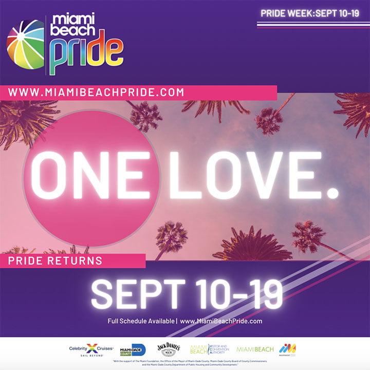 miami beach pride flyer for use by 360 magazine
