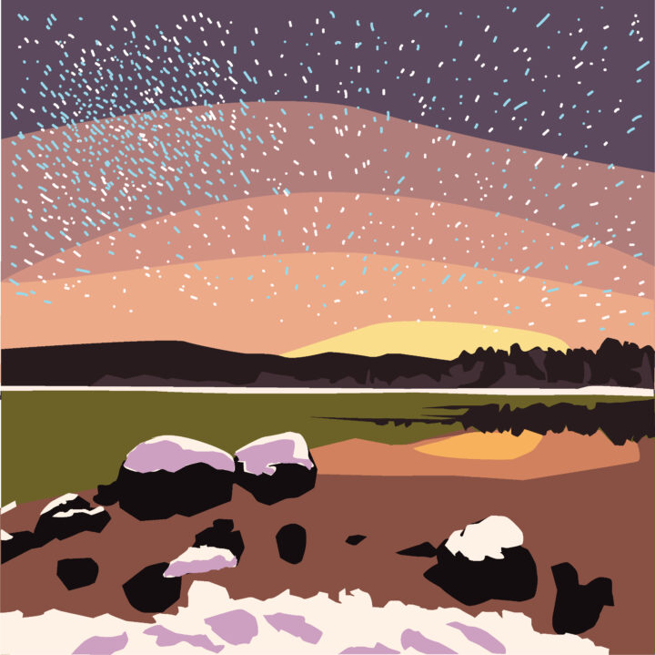 Wilderness Scotland - New Winter Itineraries 2022 illustration by Anh Hoang use by 360 Magazine