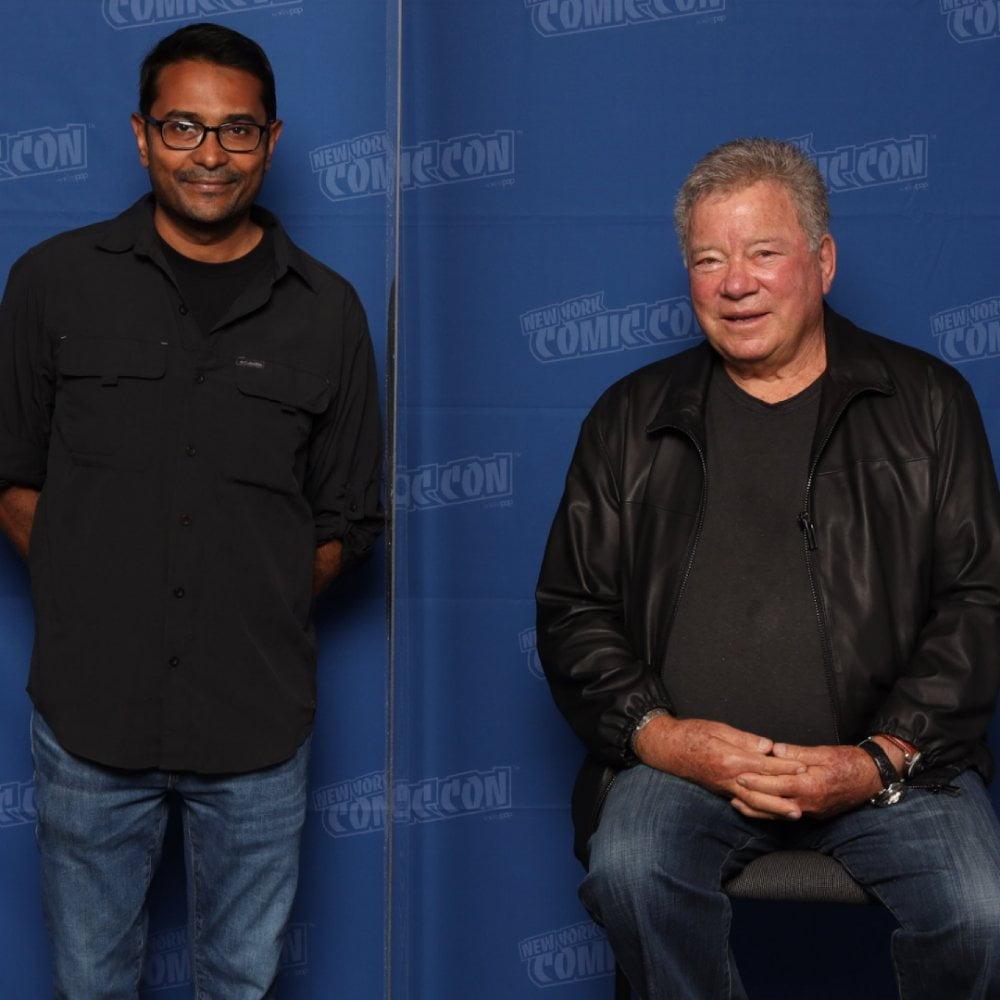 Rodney Ramlochan attends NYCC on behalf of 360 MAGAZINE and meets William Shatner.
